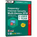 Kaspersky - Internet Security - 2018 - Retail Box - 3 PC - Anglais - Clé Bilingue