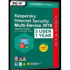 Kaspersky - Internet Security - 2018 - Retail Box - 3 PC - Anglais - Clé Bilingue