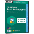 Kaspersky - TOTAL SECURITY - 2018 - Retail Box - 3 PC